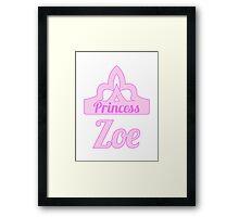 Baby girl AKA Princess Zoe Framed Print
