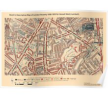 Booth's Map of London Poverty for Vassal ward, Lambeth Poster