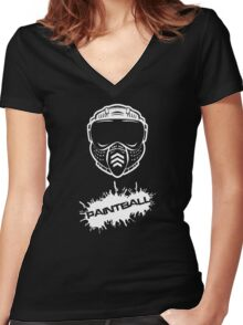Paintball Women's Fitted V-Neck T-Shirt