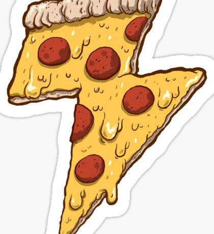 Thunder Cheesy Pizza Sticker