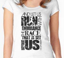 Hebrews 12:1 RUN/RACE VERSE Women's Fitted Scoop T-Shirt