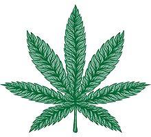 Marijuana Weed leaf Photographic Print