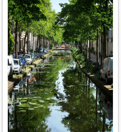 Cozy Delft Canal Sticker