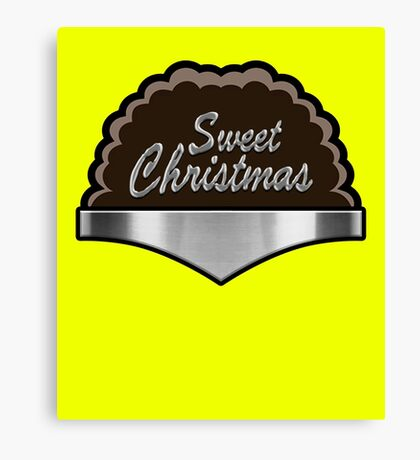 Sweet Christmas Bullet Proof Hero For Hire Super Hero  Canvas Print
