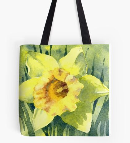 Yellow Daffodil Flower - Watercolours Tote Bag