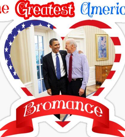 Joe Biden Barack Obama Greatest American Bromance Funny T-shirt Sticker