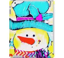 red nose snowman iPad Case/Skin