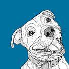 Staffordshire Bull Terrier Portrait by Adam Regester
