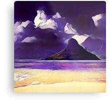 Abstract landscape, modern,trendy,beautiful,contemporary art Metal Print