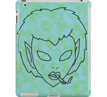 alien grunge girl - transparent iPad Case/Skin