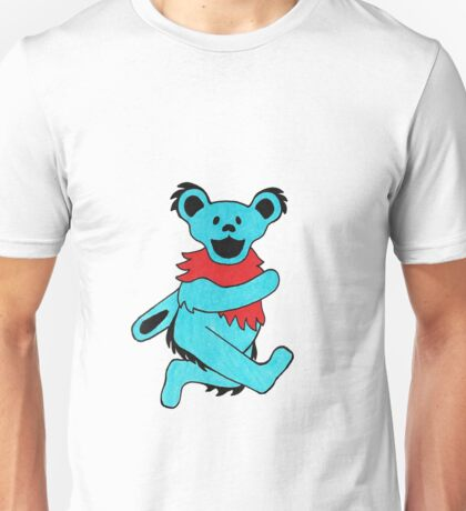 Dancing Bear (Teal) Unisex T-Shirt