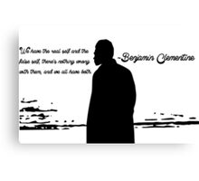 Quote by Benjamin Clementine Canvas Print