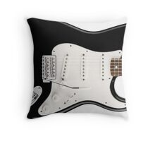 Electric Guitar Black & White Great Gift for Guitarist/Musician!  Throw Pillow