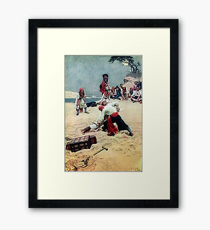 Howard Pyle Who Shall be Captain Framed Print