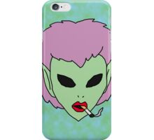 alien grunge girl iPhone Case/Skin