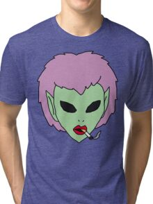 alien grunge girl Tri-blend T-Shirt