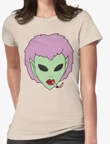alien grunge girl Womens Fitted T-Shirt