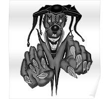 Creepy Clown Logo Poster