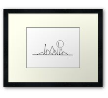 Mountain and moon  Framed Print