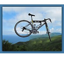 UP UP IN MID AIR  A BICYCLE RIDES - PICTURE  Photographic Print