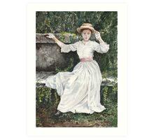 Vintage Victorian watercolour painting by Paris Lomé Art Print