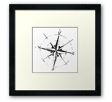 Skicc old compass for travelers Framed Print