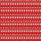 Wire Haired Dachshund Silhouettes Christmas Sweater Pattern by Jenn Inashvili