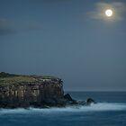 Super Moon over Bowen by Les Boucher