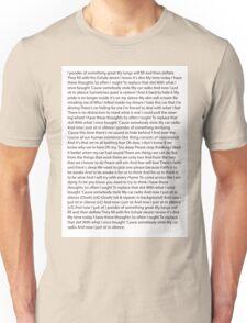 Car Radio Lyrics Unisex T-Shirt