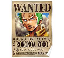 zorro wanted Poster