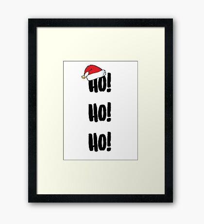Ho! Ho! Ho! Framed Print