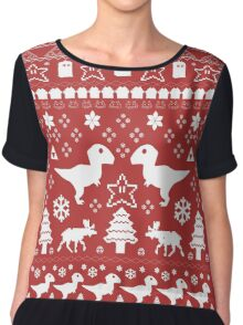 Geeky Christmas Sweater ver.red Chiffon Top
