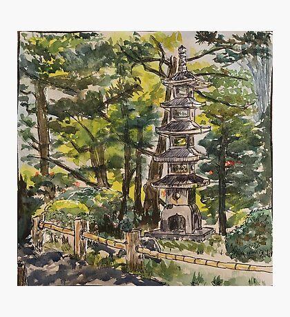 Pagoda in SF Japanese Tea Garden Photographic Print