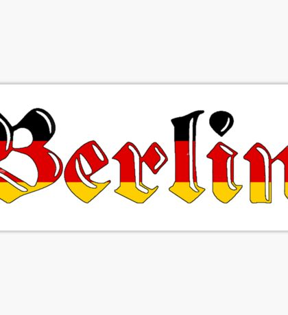 Simplistic Berlin Sticker