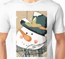 snowman doll with hat and snow Unisex T-Shirt