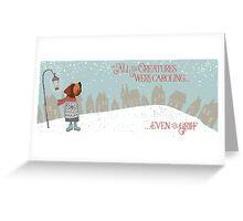 GRIFF CAROLS Greeting Card