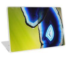 Crystal: Blue Agate & A Drop of Rain Laptop Skin