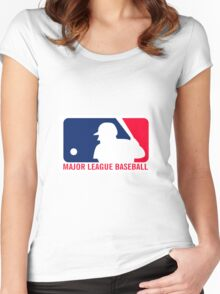 Major League Baseball Women's Fitted Scoop T-Shirt