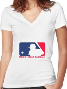 Major League Baseball Women's Fitted V-Neck T-Shirt