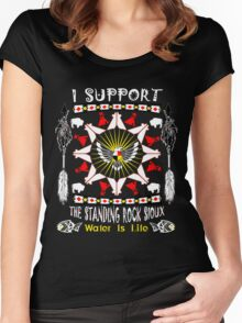 Support Standing Rock  Women's Fitted Scoop T-Shirt