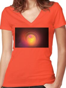 Pink Photosphere Women's Fitted V-Neck T-Shirt