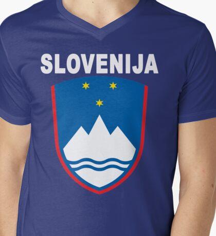 Slovenia Slovenija National Theme Mens V-Neck T-Shirt