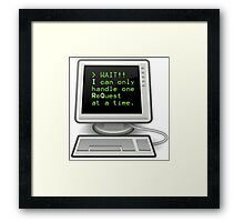 Computer Nerd - Interrupt Request Framed Print