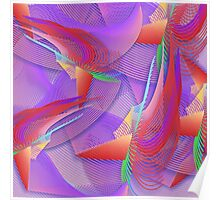 Tropical Abstract Blend Poster