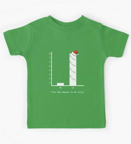 Christmas Carol Math Bar Graph Kids Tee