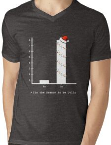 Christmas Carol Math Bar Graph Mens V-Neck T-Shirt