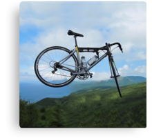 UP UP IN MID AIR A BICYCLE RIDES - BICYCLE PILLOW AND OR TOTE BAG Canvas Print