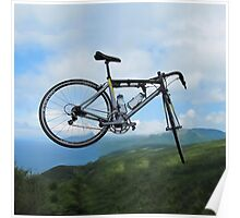 UP UP IN MID AIR A BICYCLE RIDES - BICYCLE PILLOW AND OR TOTE BAG Poster