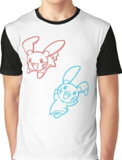 Plusle and Minun Best Friends shirt Graphic T-Shirt
