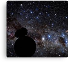 Star Wars VII. BB8 siluette in the space Canvas Print